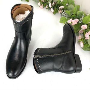 Frye Melissa stud short black boots size 6B (A#20)